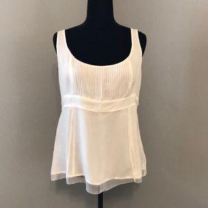 J Crew Cream 100% Silk Top - Size 10 - Like New!